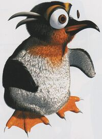 Artwork of a Lemguin from Donkey Kong Country 3: Dixie Kong's Double Trouble!
