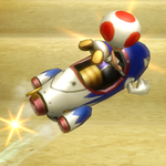 Toad performing a Trick in Mario Kart Wii