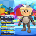 A Morton Koopa Jr. costume for Miis in the Wii version of Mario & Sonic at the London 2012 Olympic Games.