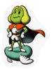 A Sticker of Prince Peasley.