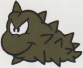 Artwork of a Grubby, from Super Mario Land 2: 6 Golden Coins.