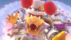 Bowser, about to attack Mario