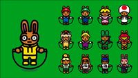 Nintendo character costumes in Jump Rope Challenge