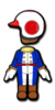 Toad Mii racing suit from Mario Kart 8