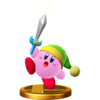 Sword Kirby's trophy render from Super Smash Bros. for Wii U