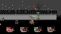 One of the 9 microgames of the WarioWare, Inc. stage in Super Smash Bros. Brawl.