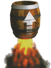 Artwork of a Booster Barrel from Donkey Kong Country 3: Dixie Kong's Double Trouble!