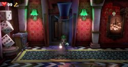 The Hall in Twisted Suites in Luigi's Mansion 3