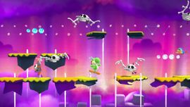 Another screenshot of World 6-7: Kamek's Last-Ditch Flyby