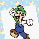 Luigi Paint by Number Activity