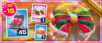 The Glitter Glider Pack from the 2020 Winter Tour in Mario Kart Tour