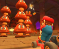 The icon of the Wario Cup challenge from the London Tour and the Mario Cup challenge from the 2021 Paris Tour in Mario Kart Tour