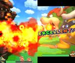 Screenshot of Giant Bowser's Fire Blast in Mario & Luigi: Bowser's Inside Story + Bowser Jr.'s Journey