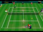Grass Court in the game Mario Tennis (Nintendo 64).