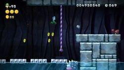 Porcupuffer Cavern in New Super Luigi U