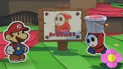 The sad Paint Guy in Paper Mario: Color Splash.