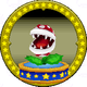 A figure with a Piranha Plant on it.