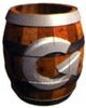 Artwork of a Rotatable Barrel from Donkey Kong Country 2: Diddy's Kong Quest