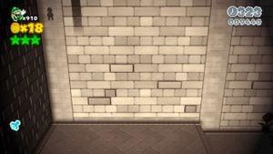 Hidden Luigi in Shadow-Play Alley.