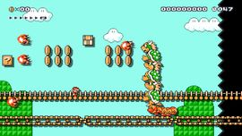 Creepy-Crawly Bowser Tower level in Super Mario Maker