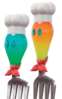Blue (left) and orange (right) Volbonans from Super Mario Odyssey.