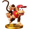 Diddy Kong trophy from Super Smash Bros. for Wii U