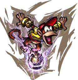 Artwork of Diddy Kong from Mario Strikers Charged
