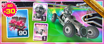 The Iron Cucumber Pack from the Mario Tour in Mario Kart Tour
