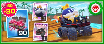 The Team Bowser King Bob-omb Pack from the Bowser vs. DK Tour in Mario Kart Tour
