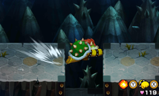 Bowser performing a Sliding Haymaker in Mario & Luigi: Bowser's Inside Story and Mario & Luigi: Bowser's Inside Story + Bowser Jr.'s Journey.