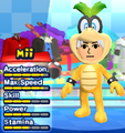 An Iggy Koopa costume for Miis in the Wii version of Mario & Sonic at the London 2012 Olympic Games.