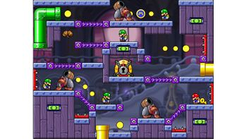 Miiverse screenshot of the 54th official level in the online community of Mario vs. Donkey Kong: Tipping Stars