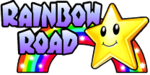 The logo for Rainbow Road, from Mario Kart Double Dash!!.