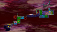 """A screenshot of Bowser's Dark Matter Plant during the """"Darkness on the Horizon"""" mission from Super Mario Galaxy."""
