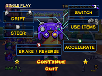 Single play controls in the pause screen.