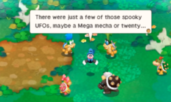 """A screenshot of the level, """"Peril at Bowser's Castle!"""" in Mario & Luigi: Bowser's Inside Story + Bowser Jr.'s Journey."""