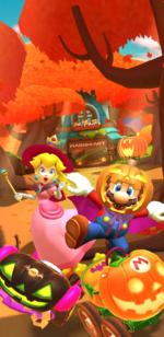 The Halloween Tour from Mario Kart Tour.