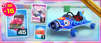 The Karp Kart Pack from the Bowser vs. DK Tour in Mario Kart Tour