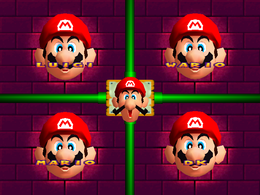 Mario's head being pulled in Face Lift from Mario Party 2.