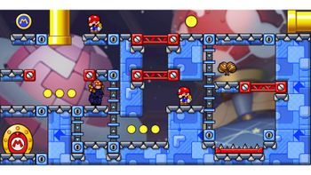 Miiverse screenshot of the 21st official level in the online community of Mario vs. Donkey Kong: Tipping Stars