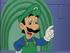 "Luigi saying, ""That's Mama Luigi to you, Mario!"" in the Super Mario World cartoon"