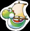 A Sticker of Yoshi Ship.
