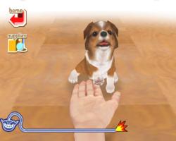 Nintendogs in WarioWare: Smooth Moves.