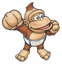 Baby Kong's artwork, as seen in the trading card series.