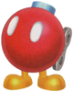 Artwork of a Bob-omb Buddy from Super Mario Galaxy 2