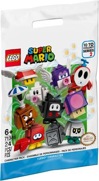 The packaging of series 2 of the LEGO Super Mario Character Packs.