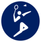 Event icon used for Badminton in Mario & Sonic at the Olympic Games Tokyo 2020