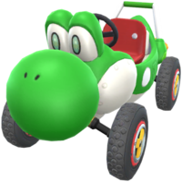Turbo Yoshi from Mario Kart Tour