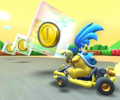 The icon of the Bowser Jr. Cup challenge from the Ice Tour and the Baby Rosalina Cup challenge from the Summer Festival Tour in Mario Kart Tour