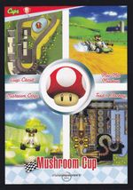 Mario Kart Wii trading card of the Mushroom Cup.